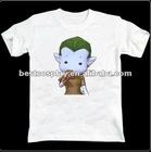 Cartoon Printing white100% cotton round collar Avater anime t shirt