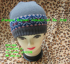 wholesale 100%Acrylic jacquard custom Knitted Malaysia beanies