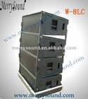 Martin audio, line array system, empty speaker cabinet (W8LC)