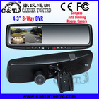"RVR431LB3 4.3"" Car DVR 3-Way for Front & Inside & Back"