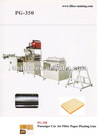 pleating machine (for filter paper )