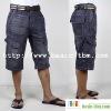 Men's Pockets Moustache Washed Short Jeans Fifth Pants