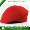 100%wool ladies fashion red beret /military beret/knitted beret /uniform beret
