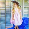 Tea-length Empire Waist with Small Jacket 2012 Flower Girl Dresses