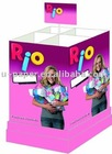 Foldable Paper Dump Bin Style Display Box Stand