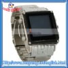 Stainless Steel Waterproof Watch Mobile Phone W818 Black with Silver