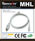 MHL cable,MHL male to HDMI female for Samsung Galaxy S II i9100