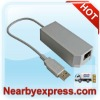 USB 2.0 Internet Lan Ethernet Adapter Network Card For Wii