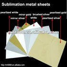 sublimation metal sheeet, aluminum sheet