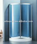 (A-867) blue color glass shower enclosure