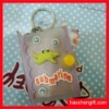 Cartoon mini silicon notebook keychain