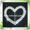2 rows heart shape cheap rhinestone buckles