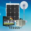 solar system for home electricity powering lights and fans led solar light for lighting solar led light with 6pcs LED lamp