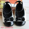black vintage style shoes, Halloween shoes for children