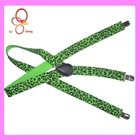 2012 fashion suspender clips with printing pattern for men