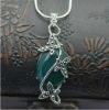 fashion 925 sterling silver green agate pendant