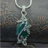 fashion 925 sterling silver green agate pendant