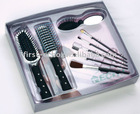 Hair brush set with mirror and make up set