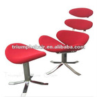 Corona chair and footrest/Lesiure chair with foofrest/Cashmere Corona chair