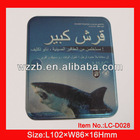 good tin box for packing gift; cigarette tin box with hinged lid