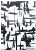 cotton nylon metallic fabric twill weave black white foil print