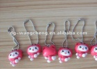 plastic key chain toy pvc mobile phone strap