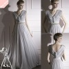 Newest Elegant Gray Cowl Neck Long Homecoming evening dress 2012