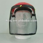 wire mesh face protective visor with HDPE plastic frame