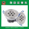 High power 7W LED recessed ceiling lighting