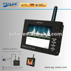 3.5 inch Wireless Portable transmit video signal by 2.4G Hz (4 CH available) cctv monitor