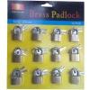 tri-circle brass keyed alike padlock