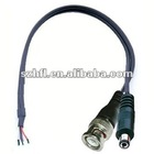 CCTV camera cable(BNC connector with power jack)