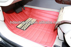 Good Quality Advanced 3D Car Mat with Plate in Red