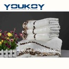 floral printed bamboo fiber bath towel