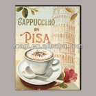 Abstract Shabby Canvas Coffee Decorative Painting