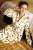 Printed Women's Coral Fleece Bathrobe