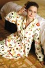 Printed Women's Coral Fleece Bathrobe