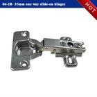 One way slide on metal hinge