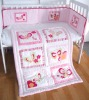 Pink girl most love colorful design baby quilt set