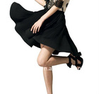 newest Europe fashion pleated black skirts womens