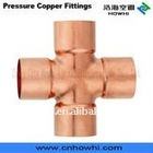 Copper pipe fitting, Cross C x C x C x C, for refrigeration and air conditioning