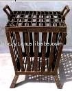 Outdoor fire basket