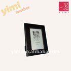 5*7 inch black leather photo frame