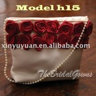 Beauty With Red Flower Fashion Bridal Handbags hb-0014