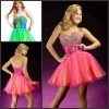 high quality sweetheart beaded top sash colored short cocktail dress P-ED-286