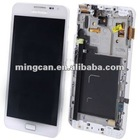 3 in 1 (Original Version LCD + Touch Pad + Front Frame) for Samsung Galaxy Note / i9220 / N7000, white