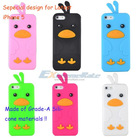 2012 New Stylish Silicone Case For iPhone 5 Cute Back Cover