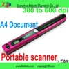 Portable book scanner A4 sized document