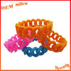 Hot Fashion Shape Multi Colours Promotional Chain Rubber Bracelet