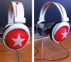 fashion foldable big star headphone